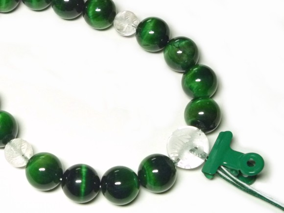 グリーン タイガーアイ 数珠 制作について